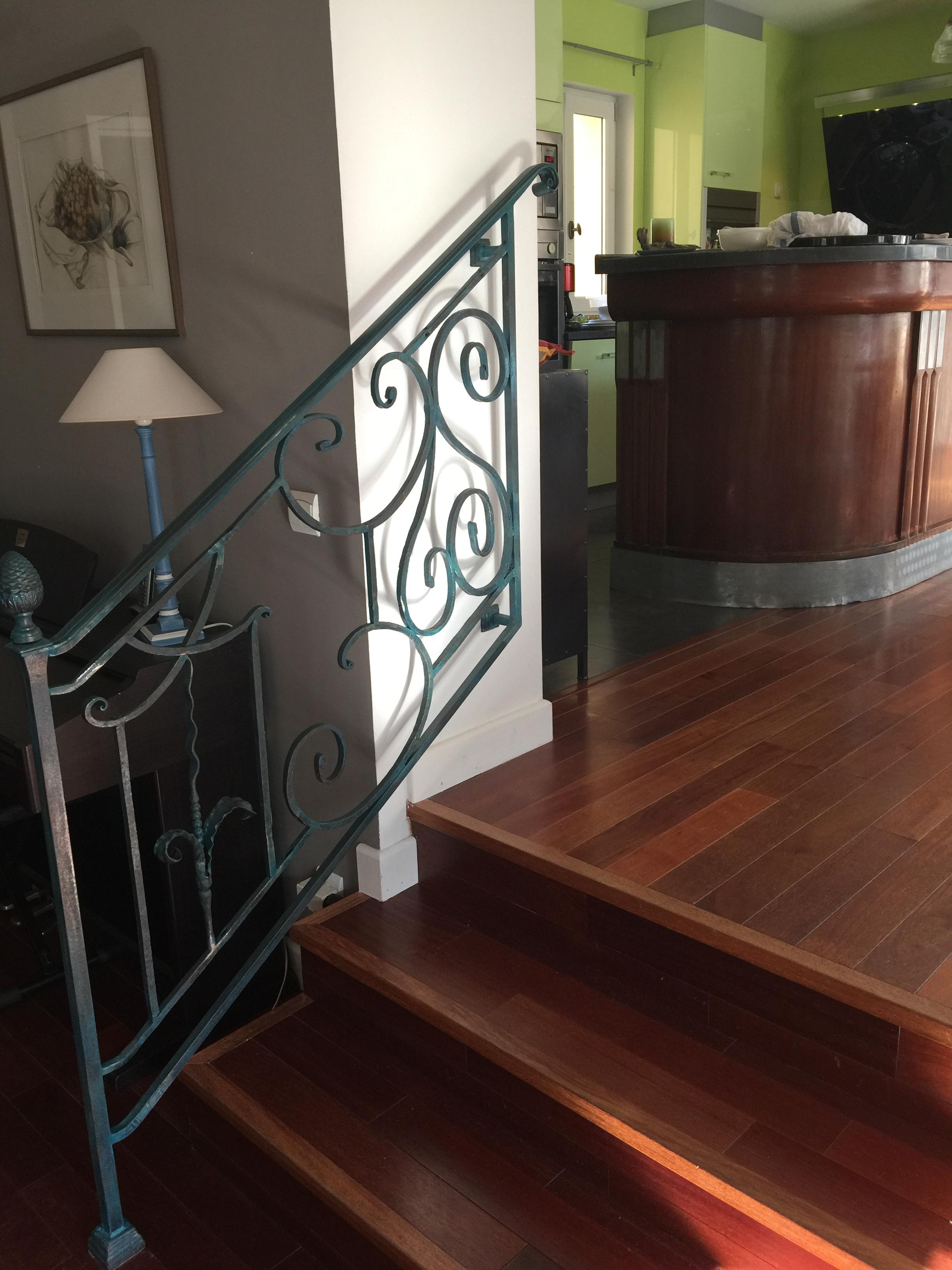 Peindre Une Rampe D Escalier En Bois ferronnerie d'art - atelier fer emeraude-bordeaux-rampes d